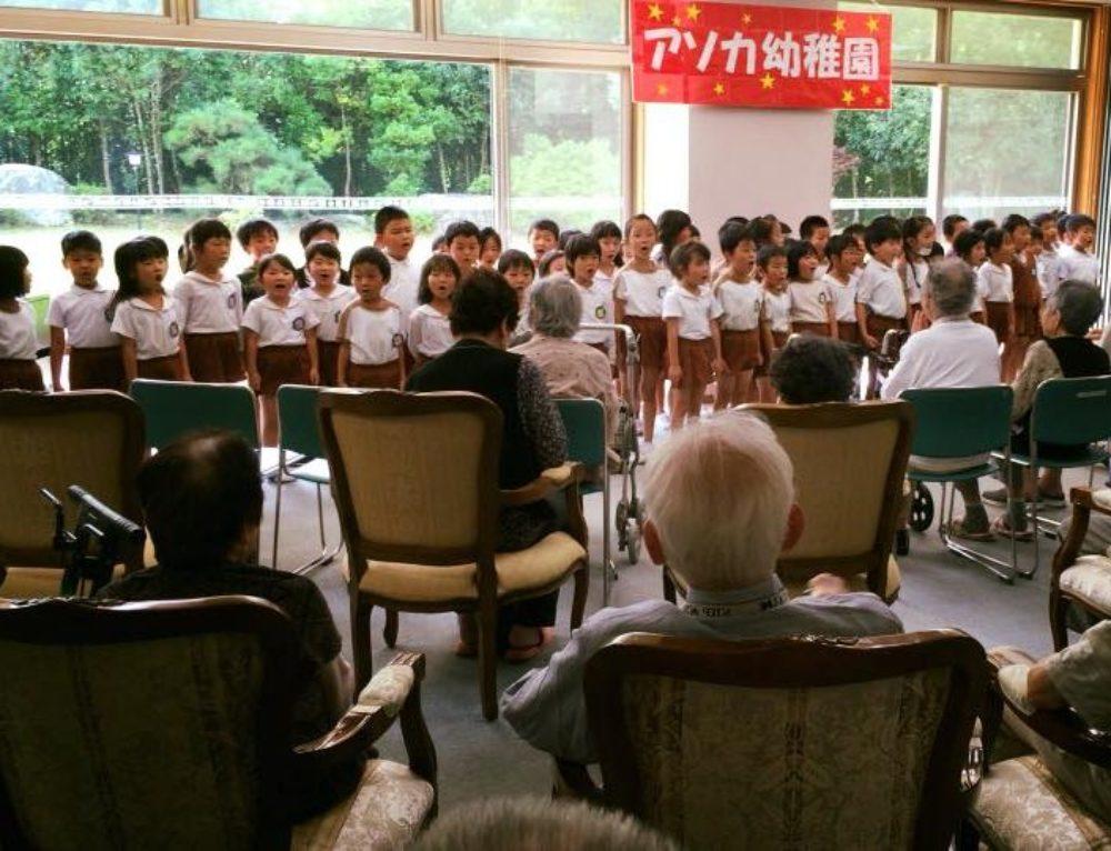 アソカ幼稚園の子供たち慰問